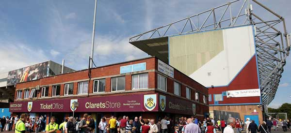 Burnley's club shop aka the Claret Store.