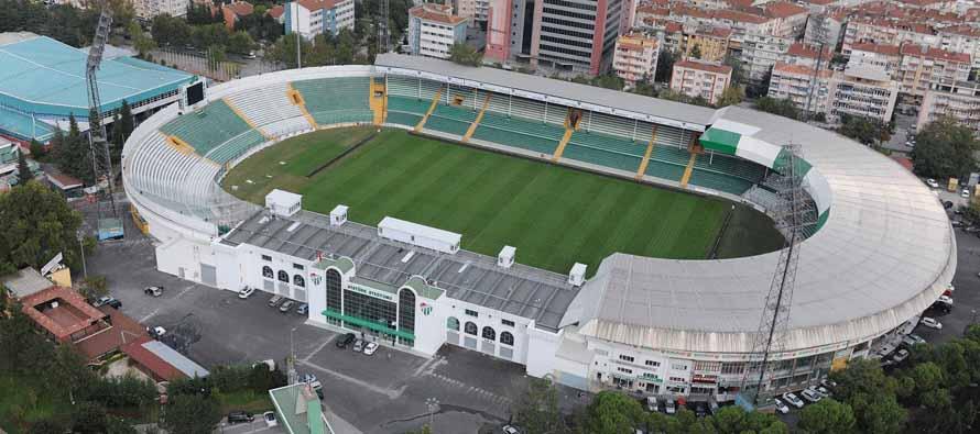 Aerial view of Bursa Ataturk Stadium