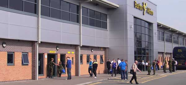Brewers club shop entrance is located to the left of the reception.