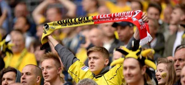 Burton Fans at Wembley 2014