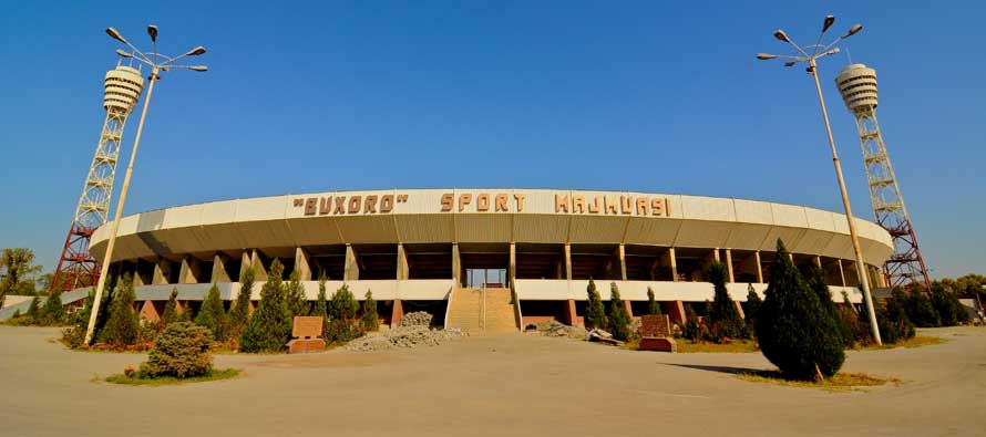 Buxoro Arena from the outside