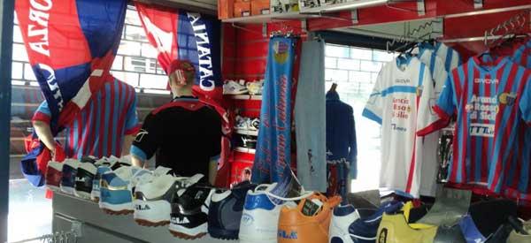 The interior of Catania's club shop