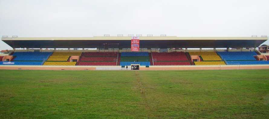 The main stand of Cam Pha Stadium