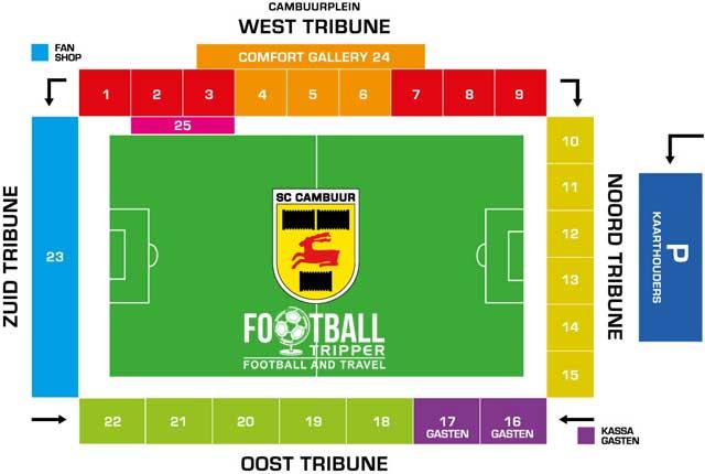 Cambuur Stadion seating map