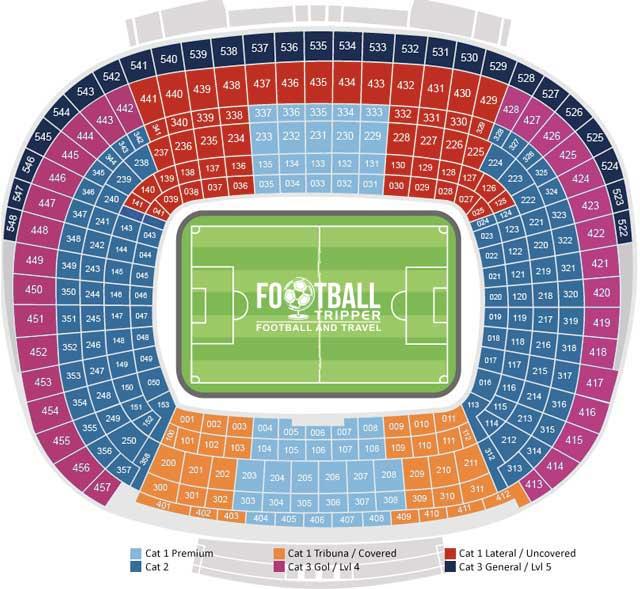 Camp Nou Seating Plan