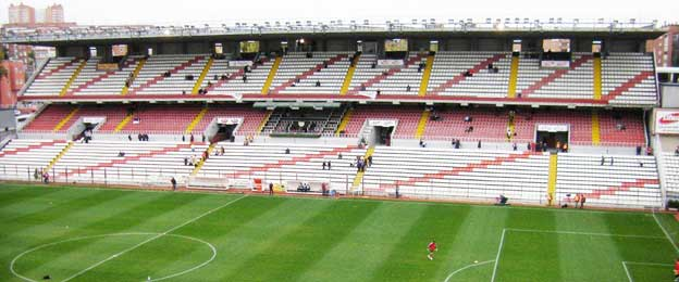Main stand at Campo de Vallecas