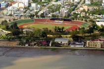 Aerial view of Can Tho Stadium
