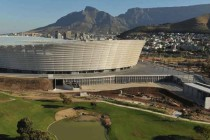 Lofted view of Cape Town Stadium