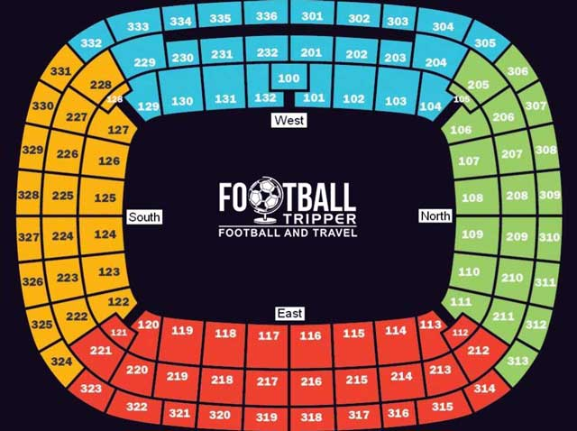 Seating Plan for Cape Town Stadium