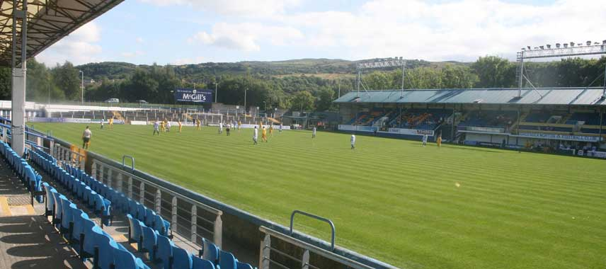 Interior of Cappielow Park Stadium