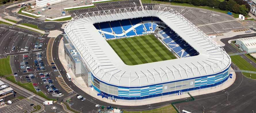 Inside empty Cardiff City Stadium