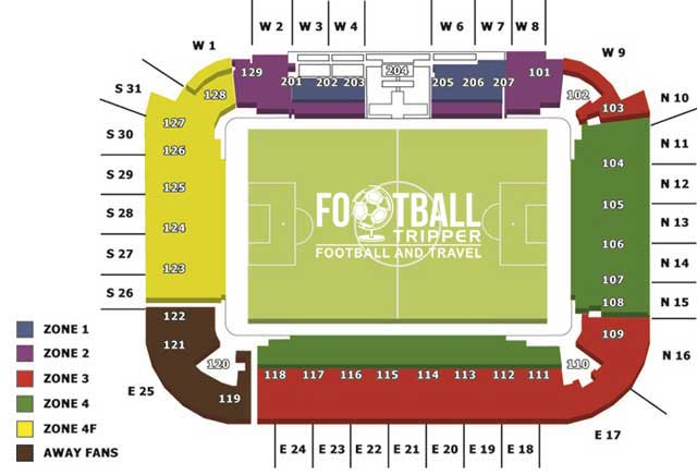 Cardiff City Seating Plan