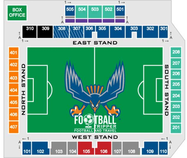 Seating Chart for WakeMed Soccer park