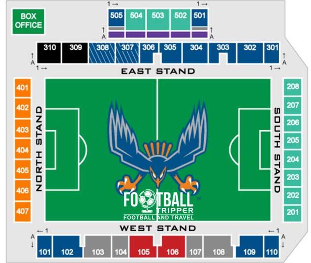 Seating Chart for WakeMed Soccer park