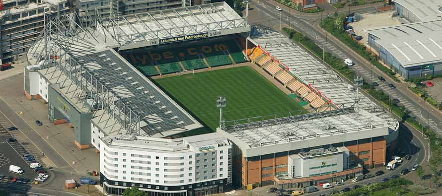 Aerial View of Carrow Road