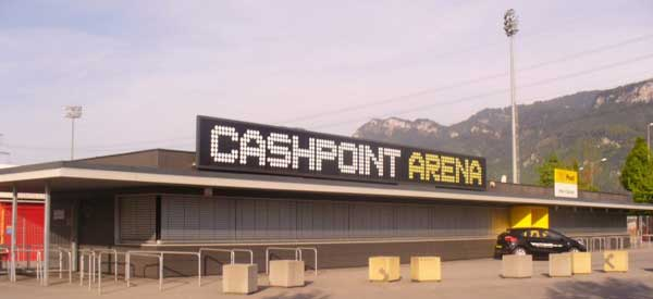 Entrance sign to cashpoint arena