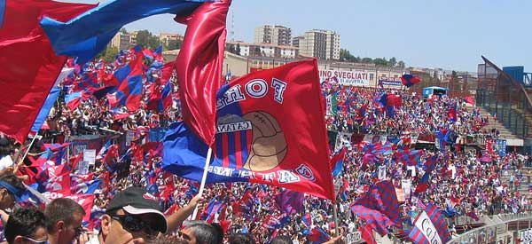 Catania supporters inside the stadium
