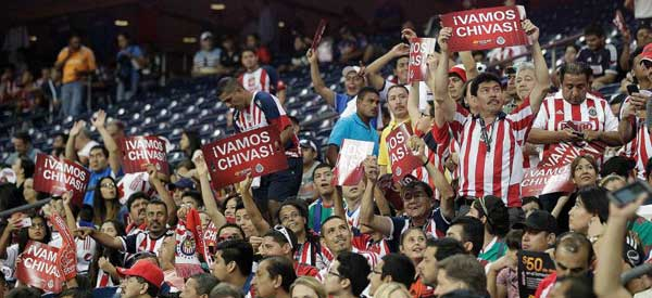 CD Guadalajara FC supporters inside the stadium