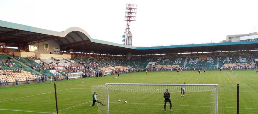 Inside Gomel's Central Stadium