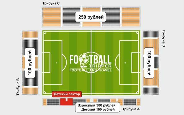 Yekaterinburg's central stadium map