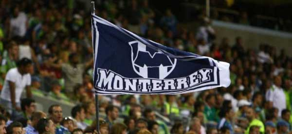 CF Monterrey supporters inside the stadium