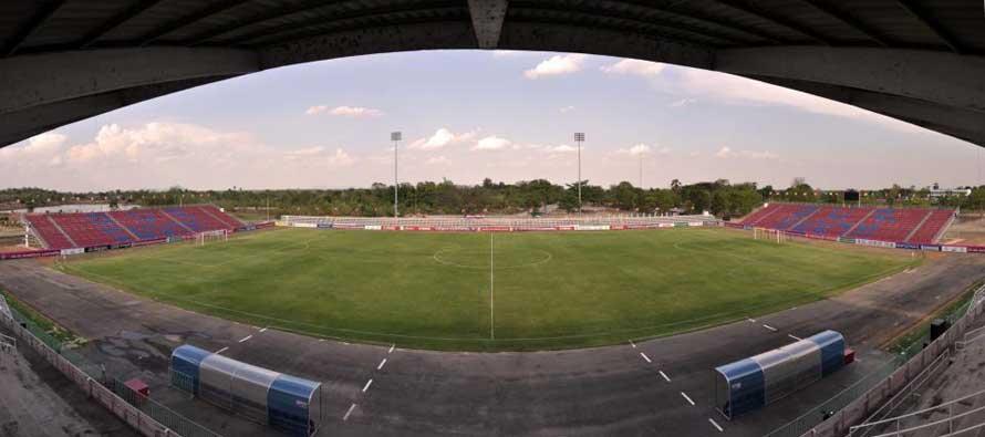 Inside an empty Chai Nat Stadium