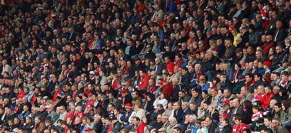 Charlton supporters inside the stadium