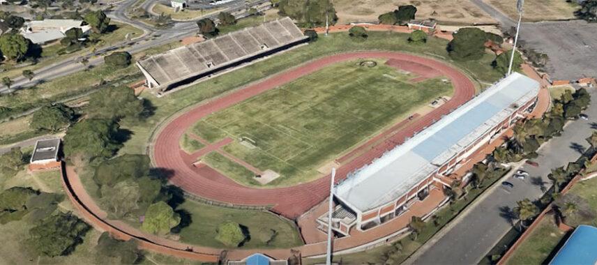 Aerial view of Chatsworth Stadium