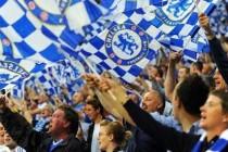 Chelsea fans inside the stadium