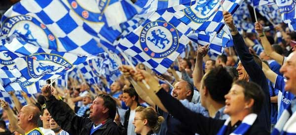 Chelsea fans inside the stadium