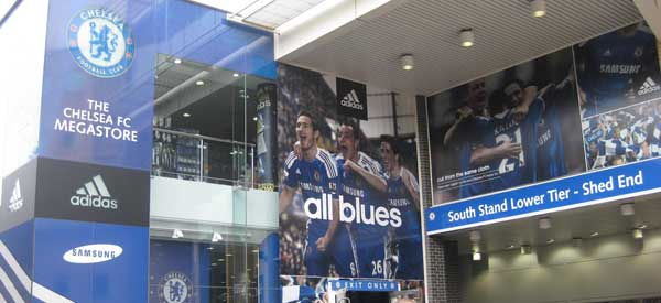 The large Chelsea FC megastore.