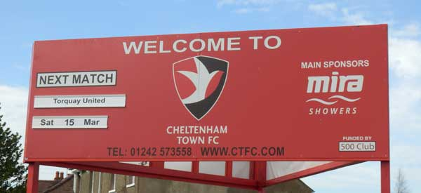 Welcome to Cheltenham Town FC
