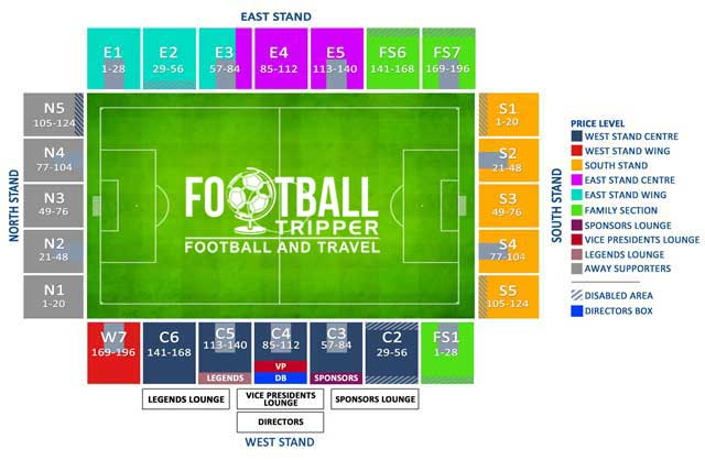 Proact Stadium Seating Plan