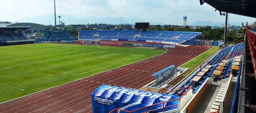 A view inside Chon Buri Stadium
