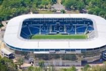 Aerial view of chornomorets stadium