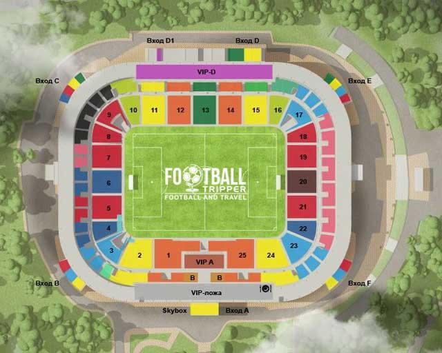 Chornomorets Stadium seating map