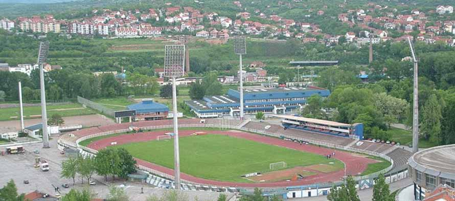 Aerial view of Cika Daca Stadium