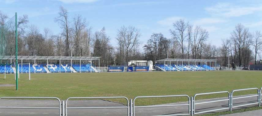 Main stand of City Stadium Slutsk