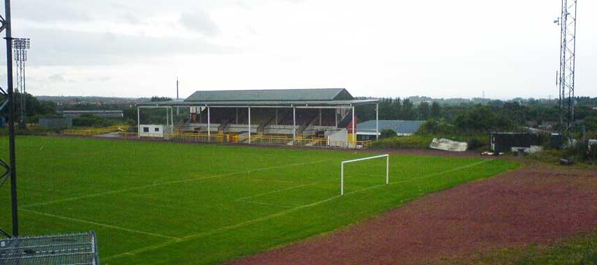 Inside an empty Cliftonhill Stadium