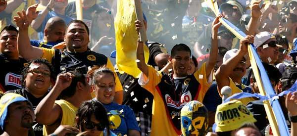 Club America supporters inside the stadium