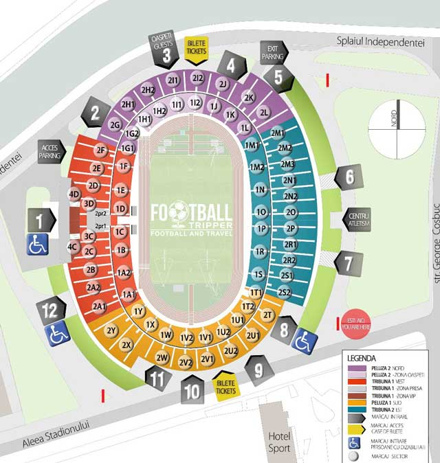 Cluj Arena seating map