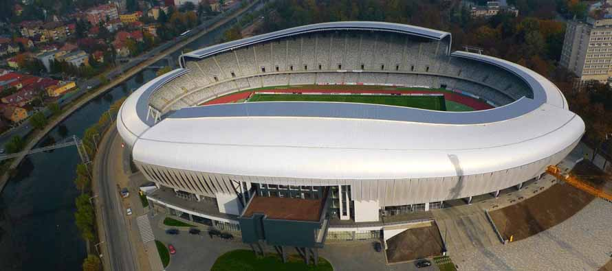 Aerial view of Cluj Arena
