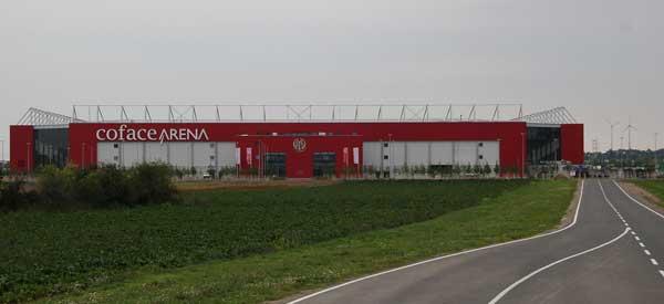 Exterior of Coface Arena stadium