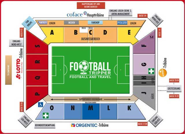 Coface Arena Seating Plan