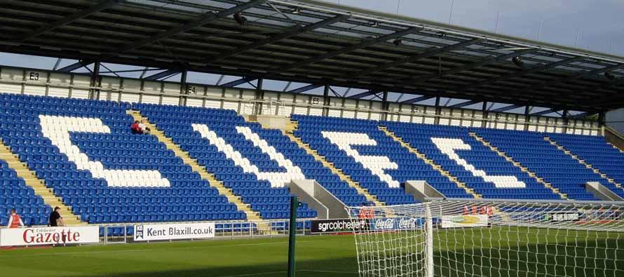 Inside Colchester Community Stadium