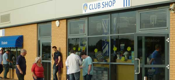 The exterior of Colchester's club store