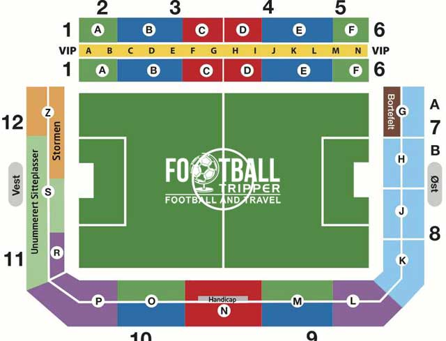 Color Line Stadion seating plan