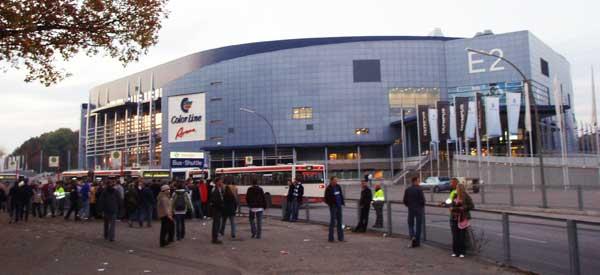 Exterior of Color Line Stadium