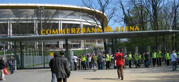 Outside of Commerzbank Arena