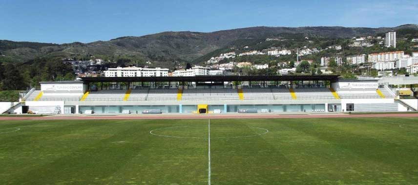 View of the main stand at Covilha's stadium